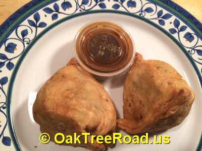 Bombay Spice Iselin Vegetable Samosa © OakTreeRoad.us
