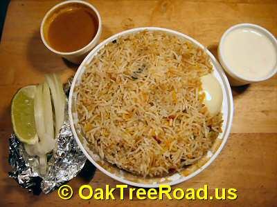 Dakshin Express Andhra Style Special Chicken Biryani © OakTreeRoad.us