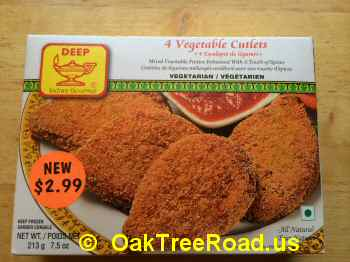 DEEP Vegetable Cutlets image © OaktreeRoad.us