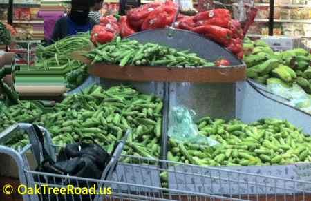 Fresh Indian Vegetables  image © oaktreeroad.us