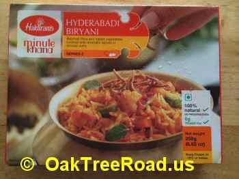Haldiram Hyderabadi Biryani image © OaktreeRoad.us