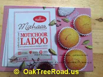 Haldiram Motichoor Ladoo image © OaktreeRoad.us