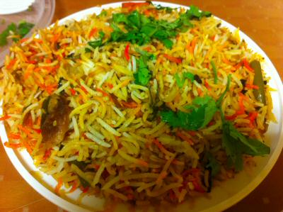 hyderabad dum vegetable biryani iselin © OakTreeRoad.us