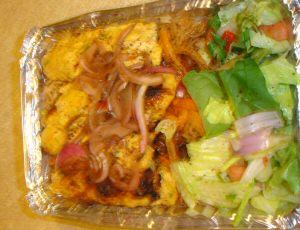 chicken adana over afghani rice