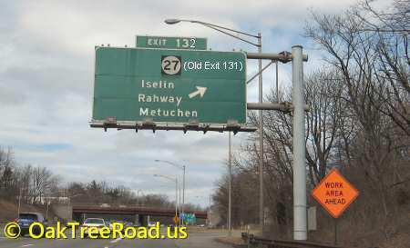 How to reach oak tree road edison and iselin nj for Directions to garden state parkway south
