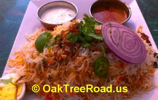 Hyderabad Dum Chicken Biryani image © OakTreeRoad.us