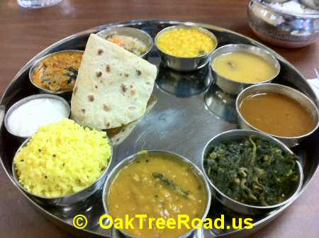 Vegetarian Thali Oak Tree Road