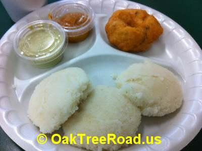 Idly, Vada on Oak Tree Road