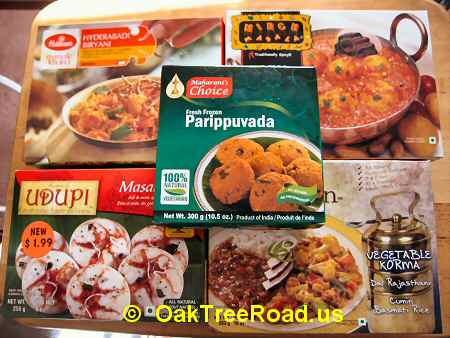 Heat-n-Eat Indian Curry Packets image © OakTreeRoad.us