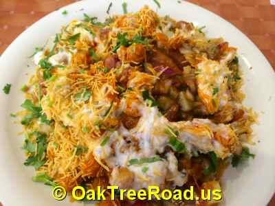 Samosa Chaat on Oak Tree Road