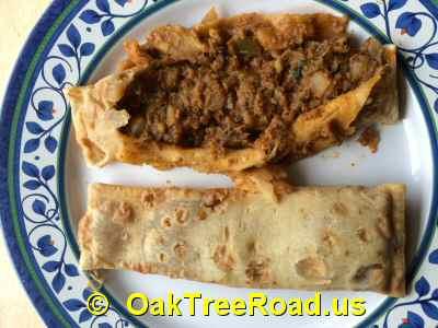 Pau Bhaji Kati Sandwiches Nutrition image © OaktreeRoad.us