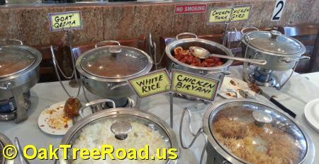Shalimar Grill Buffet Counter Oak Tree Road Iselin New Jersey