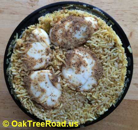 Trupti Egg Biryani iselin © OakTreeRoad.us